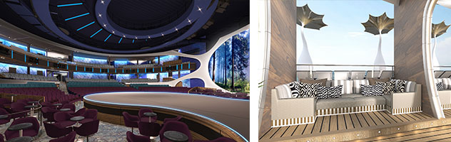 Theater and Public Spaces aboard Celebrity Edge