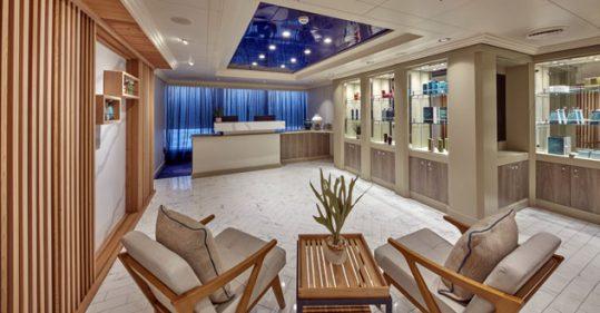 Cunard Line's Mareel Spa Reception