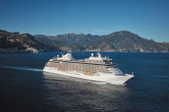 Regent Seven Seas Cruise Ship At Sea