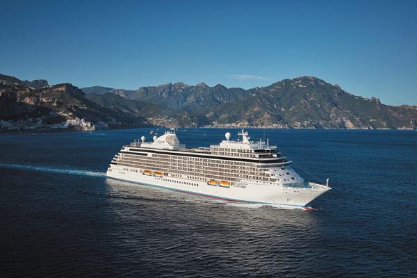 Regent Seven Seas Cruise Ship At Sea