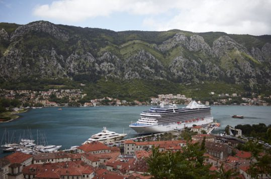 Oceania cruise ship in Montenegro