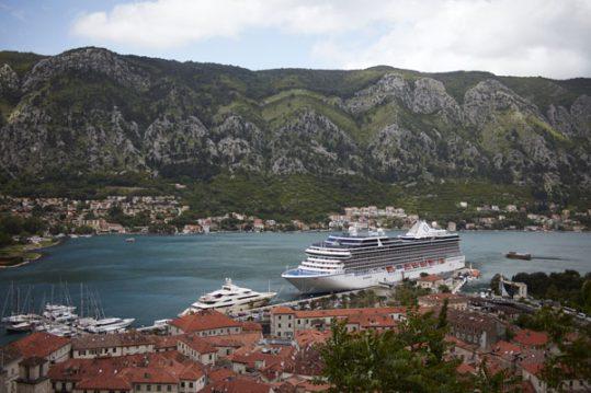 Oceania cruise ship in Montenegro