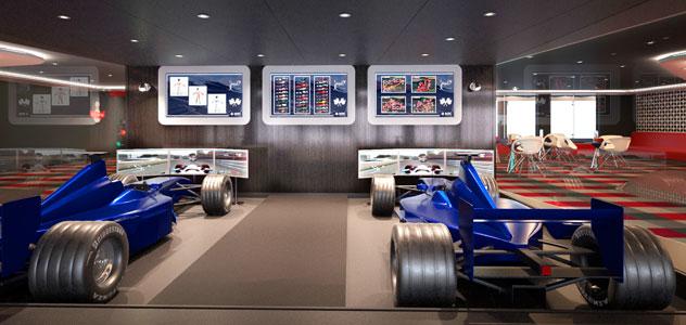 MSC Bellissima F1 Simulators