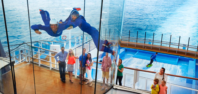 Spectrum of the Seas RipCord Skydiving Simulator