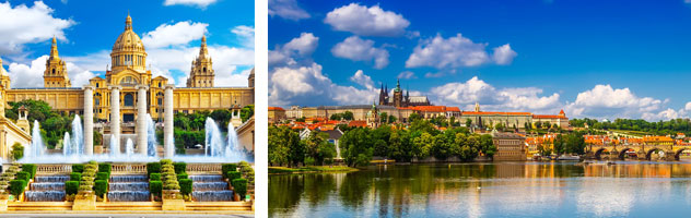 Monograms Tours to Barcelona or Prague