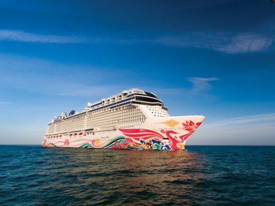 Norwegian Joy at sea