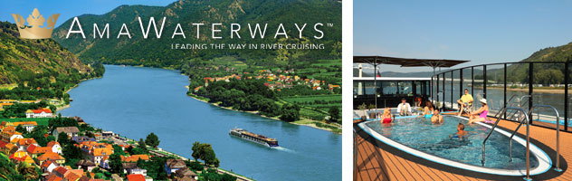 AmaWaterways Aerial and Sun Deck Pool