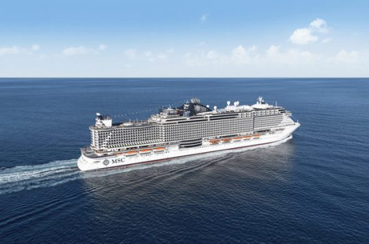 MSC Seaside sailing