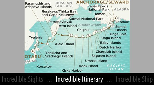 Itinerary Map - Courtesy of Crystal Cruises