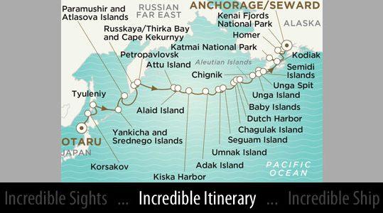 Itinerary Map - Courtesy of Crystal Cruises