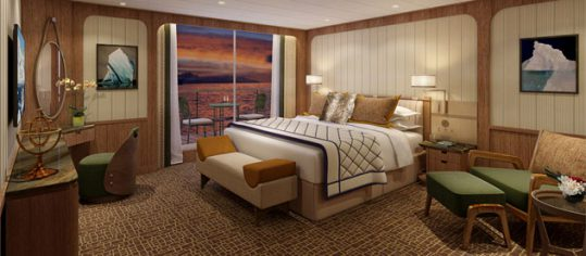 Seabourn Signature Suite bedroom