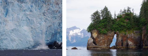 Glacier and Rocks in Kenai Fjords