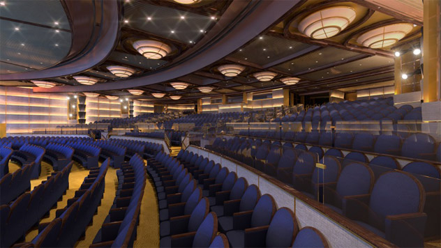 Princess Cruise's Theater Aboard Enchanted Princess