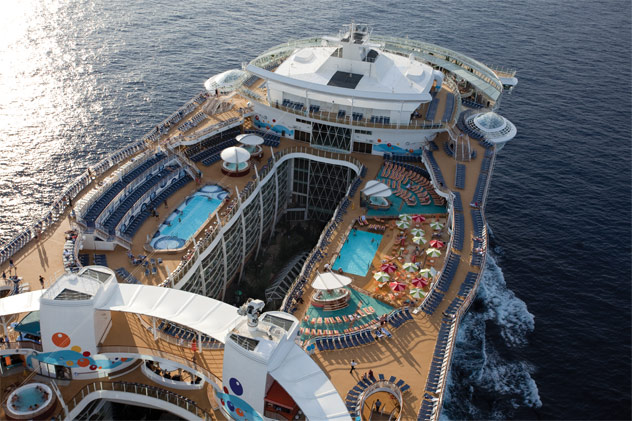 Deck of Royal Caribbean International's Wonder of the Seas
