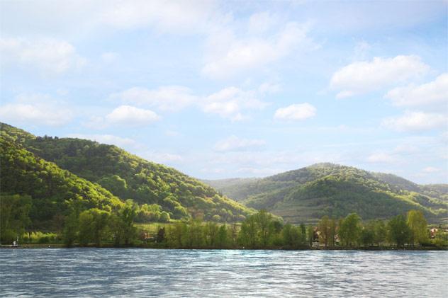 Beautiful Rhine River View Aboard Uniworld Boutique River Cruises
