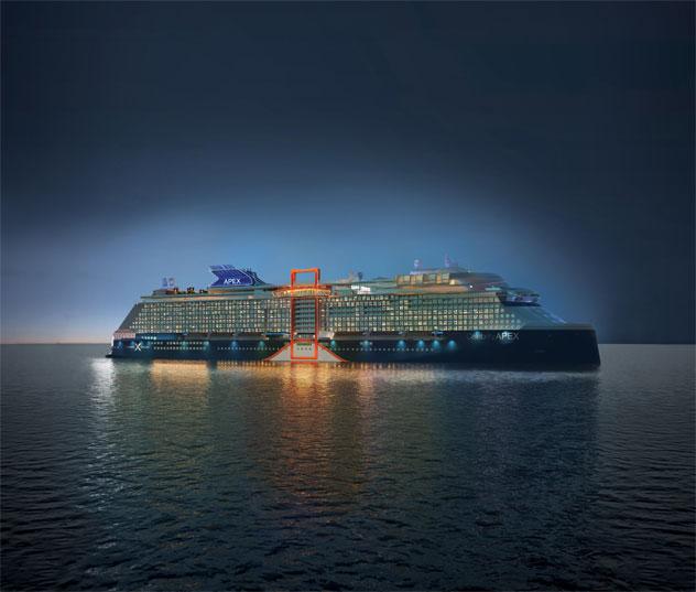 Celebrity Apex Sailing