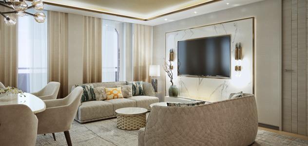 Crystal Endeavor Penthouse Suite Living Area