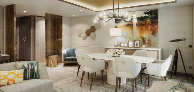 Crystal Endeavor Penthouse Suite Living Room