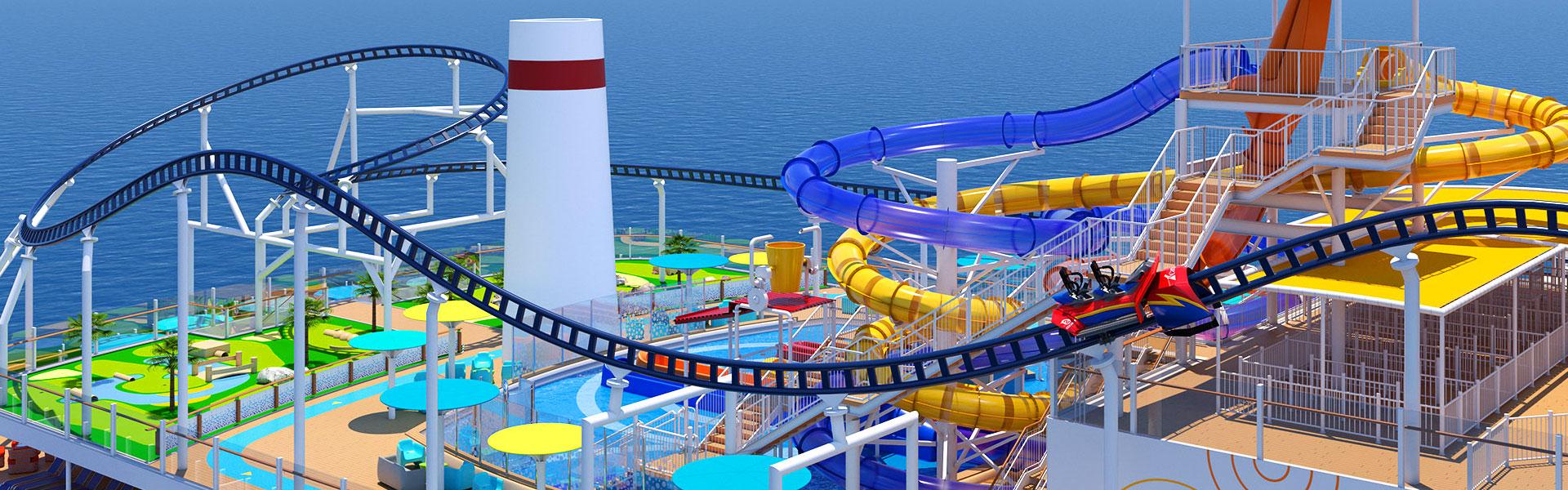 Carnival Mardi Gras Cruise Ship Rollercoaster