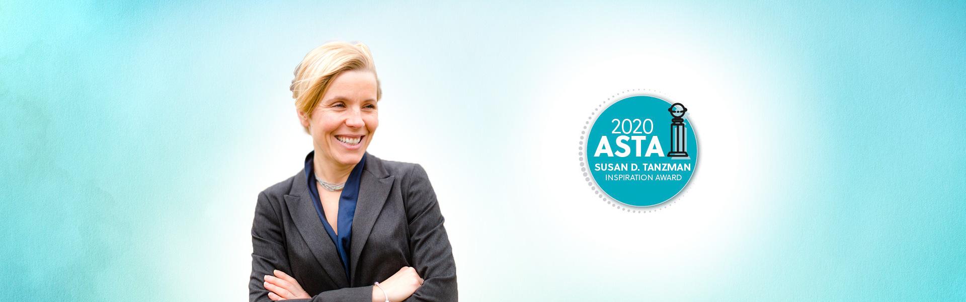 Karolina Shenton receives Susan D. Tanzman Inspiration Award