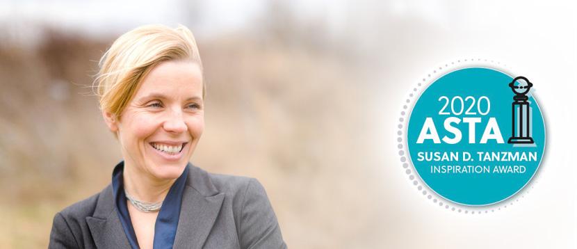 Karolina Shenton, recipient of the Susan D. Tanzman Inspiration Award