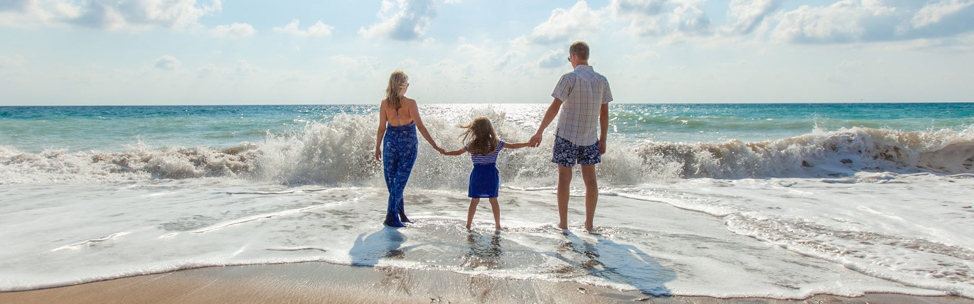 Family beach vacation booked with The Cruise Web Travel Agency