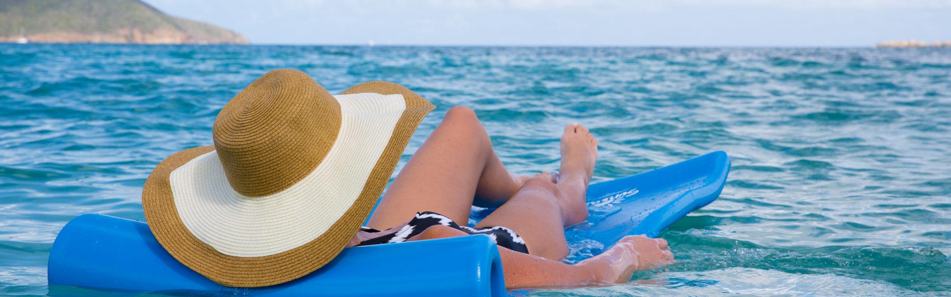 Guest enjoying Caribbean cruise