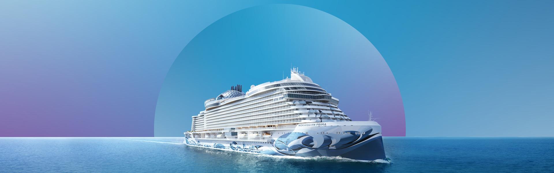 Norwegian Prima at sea