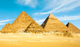 Pyramids of Egypt in Giza