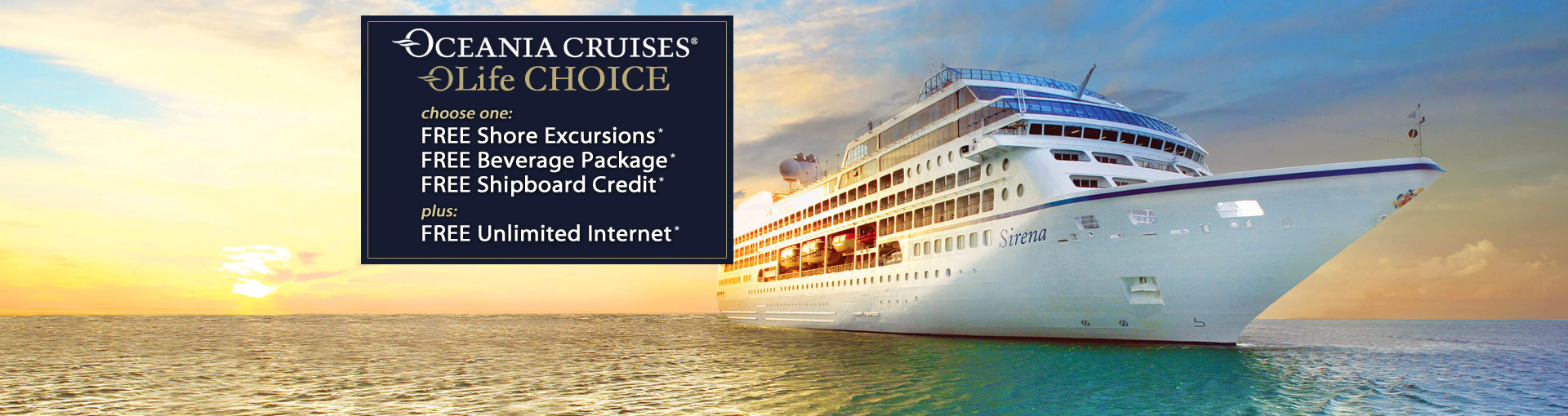 Oceania Cruise Specials - OLife Choice Sale | The Cruise Web