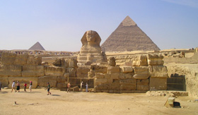 Great Sphinx and Pyramids of Giza, Egypt