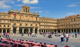 Salamanca Plaza Mayor in Spain