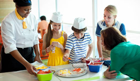 Celebrity Cruises kids cooking class