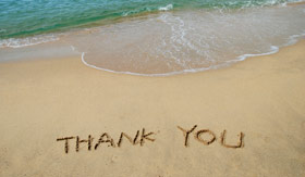 Thank you on the beach