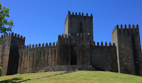 Castle of Guimaraes in Portugal
