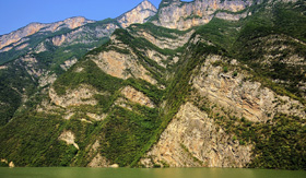 Cliffs of the Three Gorges in China