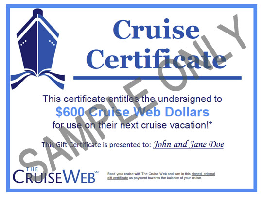 FULL CRUISE GIFT CERTIFICATE — Corporate Price Sheet ...