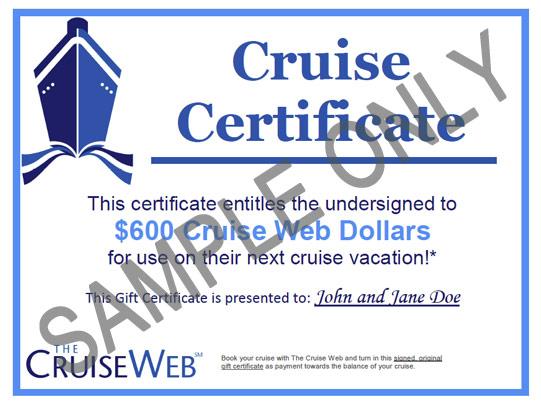 Cruise Web Gift Certificates Cruise Gift Cards The Cruise Web