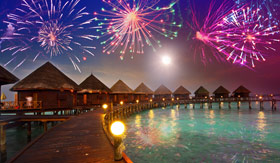 Fireworks over Tahiti