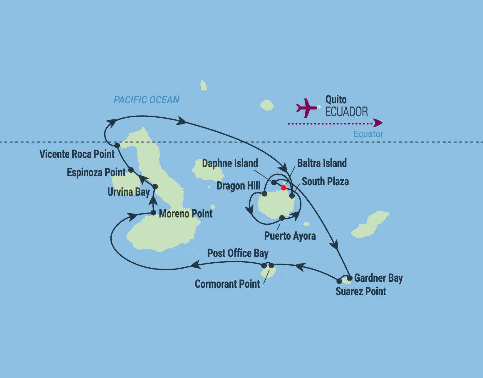 10 Night Galapagos Outer Loop