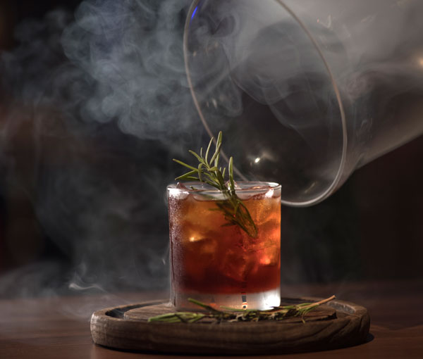 One of Carnival's smoked cocktails