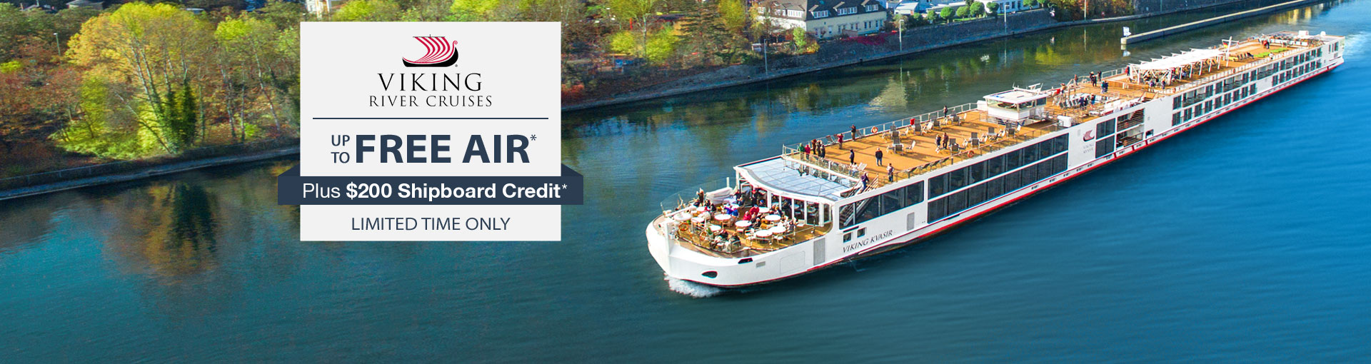 Viking River Cruises: up to Free Airfare and Free Shipboard Credit