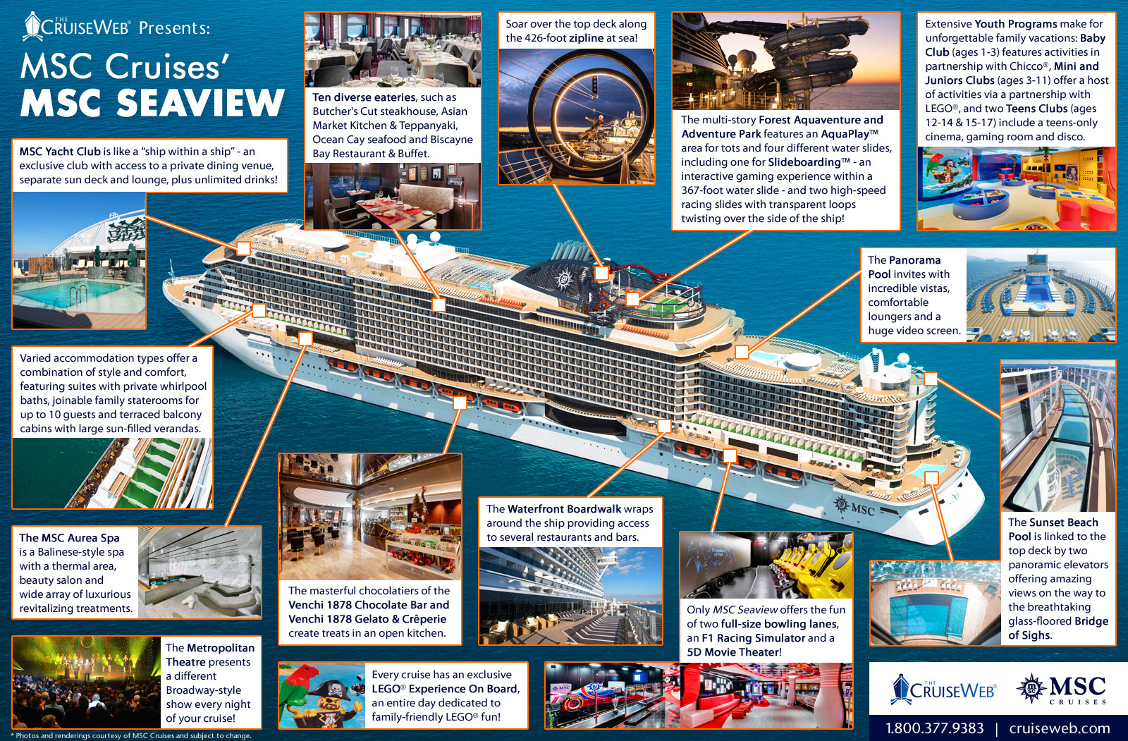 Inside MSC Seaview  A Cruise Ship Infographic fe1975aa2