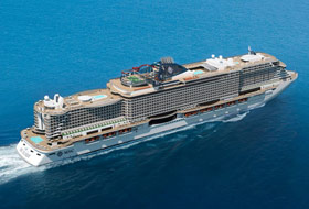 MSC Seaview Rendering - Courtesy of MSC Cruises