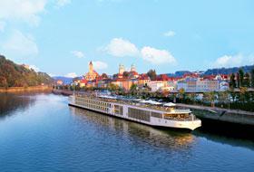 Viking Longship in Passau - Courtesy of Viking Cruises